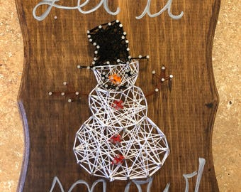 Let it snow snowman string art