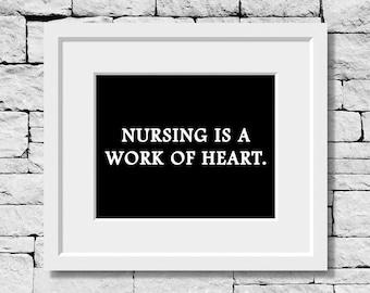 Nurse Quote, Nurse Print, Nurse Gift, RN Quote, RN Print, Gifts for Nurses, Inspirational Nurse Print, Nursing Student Gift, RN Gifts, Nurse