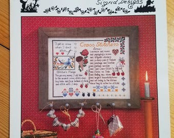 Cross-stitcher's Sampler, Sigrid designs, counted cross stitch pattern leaflet