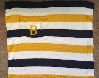 Nautical Striped Baby Blanket