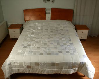 """Handmade quilted bed cover 220x252cm - (86,6"""" x 99"""")"""