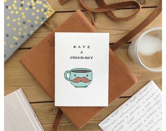 COFFEE CARD • coffee • coffee pun • grande • cute card • birthday card • grandparent card • funny birthday card • pun card • friendship card