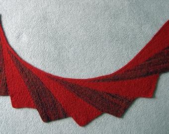 Shawl, Scarf, Wrap,  Hand-knit shawl, Hand-spun shawl, Shoulder shawl