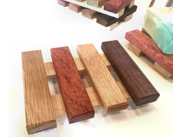 36 soap dishes - made of a variety of reclaimd wood - 2.25 each