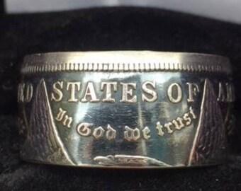 1921 Morgan Silver Dollar Coin Ring