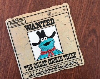 Vintage The Great Cookie Thief Sesame Street Cookie Monster Golden Book 1977 1970s