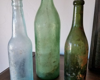 Antique Bottle Trio