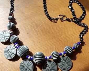 Gunmetal Focal Necklace