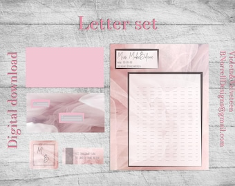 Pink Tulle Series letter set