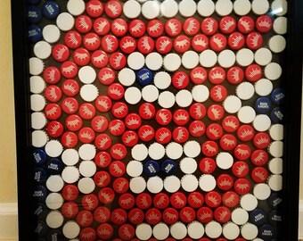 Beer bottle cap/sports team art