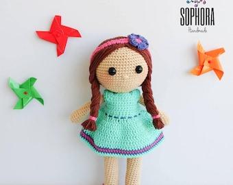 Patron de crochet/Amigurumi Pattern/Amigurumi Doll Pattern/Muñeca Sofía, Sophie Doll/Crochet Pattern, Amigurumi Pattern, PDF