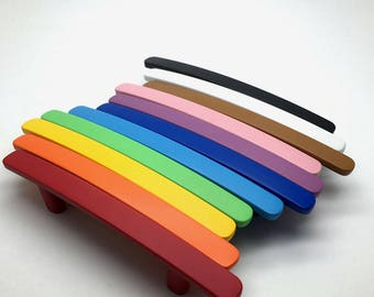 """3""""  3.78""""  5.04"""" Colorful Drawer Pull Cabinet Door Pulls Handle Blue Orange Yellow Red Pink Black White Green 76mm 96mm 128mm 6018"""