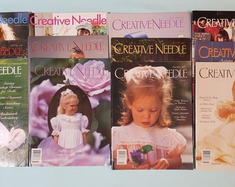 12 Issues of Creative Needle Assorted Issues from 1994 to 2008