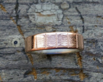Simple Renaissance Ring with Copper and Silver