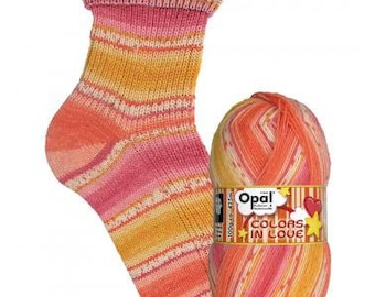 "Opal socks wool ""colors of Love"" f 9516 (Dreamy hearts), 4fädig,"