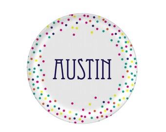 Melamine Plates Personalized - Birthday Plate - Confetti Cake Plate - Name Dinner Plate - Kids Plate - Melaminme Dinnerware - Gifts for Kids  sc 1 st  Etsy & Custom cake plates | Etsy