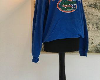 Women's or men's vintage blue Florida gators university hoodie