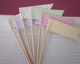 Easter / Baby Shower / Cupcake Toppers / Food Picks / Party Picks / set of 24