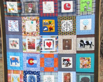 New Baby Quilt Kit - Memory Quilt - Personalized Gift