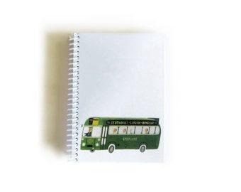 Green Bus A6 Notebook