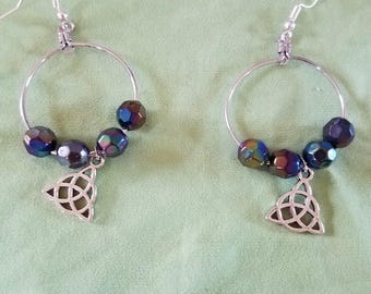 Pagan Celtic Knot Charm Earrings