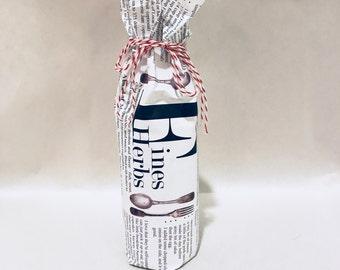 Fine Herbs - Mini Champagne Bottle w/wrap