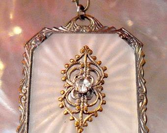 Vintage Camphor Glass Pendant