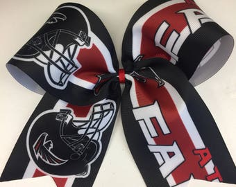 Atlanta Falcons, Girls Large, Hair Bow, Custom Boutique, Football Fans, Ribbons Clips, Teen Tween, Game Day, Kids Gift, Fall Sports, Georgia
