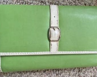 Relic Apple Green French wallet  and checkbook cover