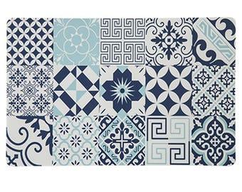 Washcloth in Arabesque Style Dove blue set of 6