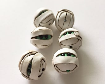 6 Mummy Head Beads