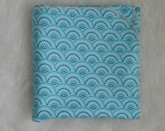 Blue Wave Flannel Baby Blanket