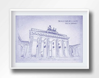 Wall art brandenburg etsy brandenburg gate blueprint brandenburg gate poster germany wall art printables travel prints treveler gifts printable blueprints 6008 malvernweather
