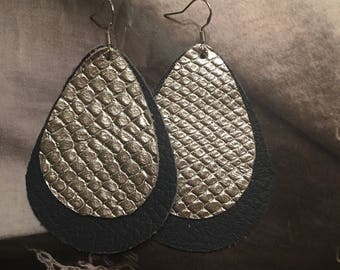 Rupert and Stella Leather Earrings - Bling it On