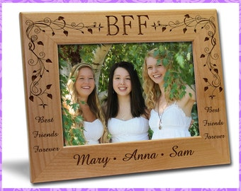 4x6 Personalized Custom Engraved BFF Picture Frame Gift