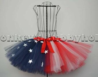 Patriotic American Flag Tutu
