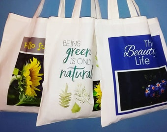 Canvas Tote Bags, Canvas Shopping Tote, Shopping Bags, Set of Tote Bags, Cotton Tote Bags, Reusable Shopping Bags, Grocery Bags, Market Bags