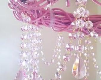 Grapevine chandelier etsy pink chandelier shabby chic pink grapevine budoir bedroom cottage style farmhouse faux chandelier aloadofball Gallery
