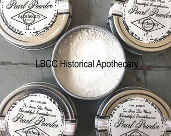 100% Pure Pearl Powder- Face Powder- Regency Makeup Jane Austen Makeup Natural Makeup Historical Pearl Powder For Sensitive Skin