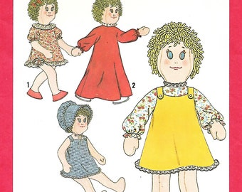 """Simplicity 8694 18"""" Stuffed Doll And Doll Clothes Sewing Pattern, Rag Doll, UNCUT"""