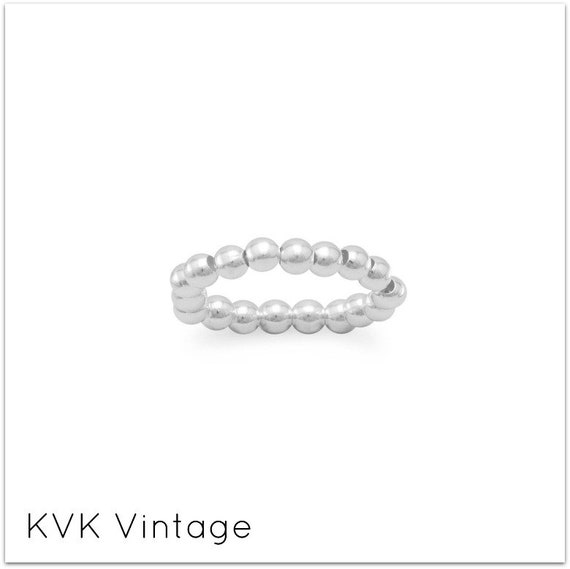 Silver Bead Stretch Toe Ring - Toe Ring - Rings for Toes - Foot Fetish - Sterling Toe Rings - Toe Rings