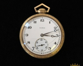 Illinois OF Pocket Watch size 8 c.1920