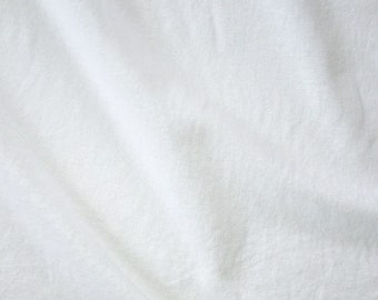 White Linen/Cotton Mix Plain Fabric, White Plain Fabric for sewing and crafts