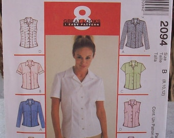 McCall's 2094  ~  8 Great Looks 1 Easy Pattern 2094  Size B  8-10-12  Dated 1999