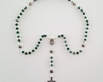 Emerald Crystal Rosary
