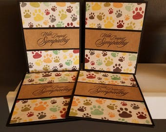 Pawprints Sympathy Card