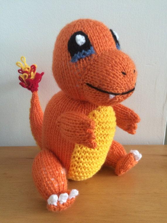Charmander pokemon knitting pattern toy knitted soft toy