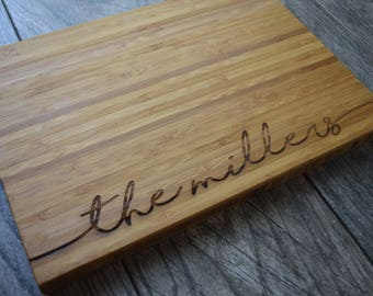 Personalized Cutting Board Personalized Engagement Gift for Couples Cutting Board Personalized Engagement Gift for the Couple Cutting Board