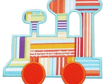 407 Satin Train Machine Embroidery Applique Design