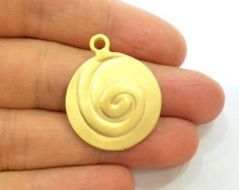 2 Gold Pendant Gold Plated Pendant (27mm)  G7488